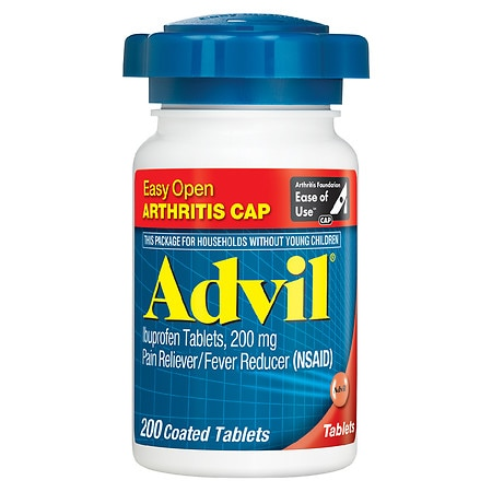 Advil Easy Open Ibuprofen Pain Reliever & Fever Reducer Tablets - 200 ea