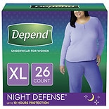 Depend Night Defense Incontinence Overnight Underwear for Women X-Large