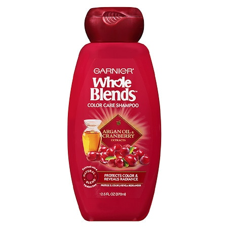 Image of Garnier Whole Blends Shampoo with Argan Oil & Cranberry Extracts, Color Care - 12.5 oz.