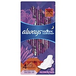 Always Radiant Pads With Wings Overnight Light Clean Scent