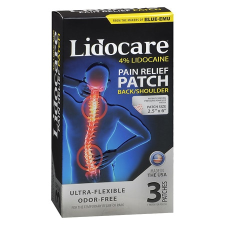Lidocare Pain Relief Patch Back/Shoulder - 3 ea