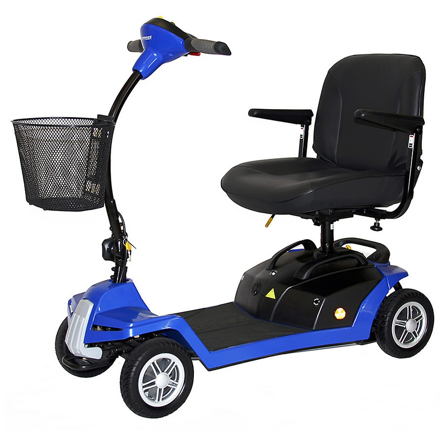 shoprider escape 4 wheel portable scooter blue walgreens. Black Bedroom Furniture Sets. Home Design Ideas