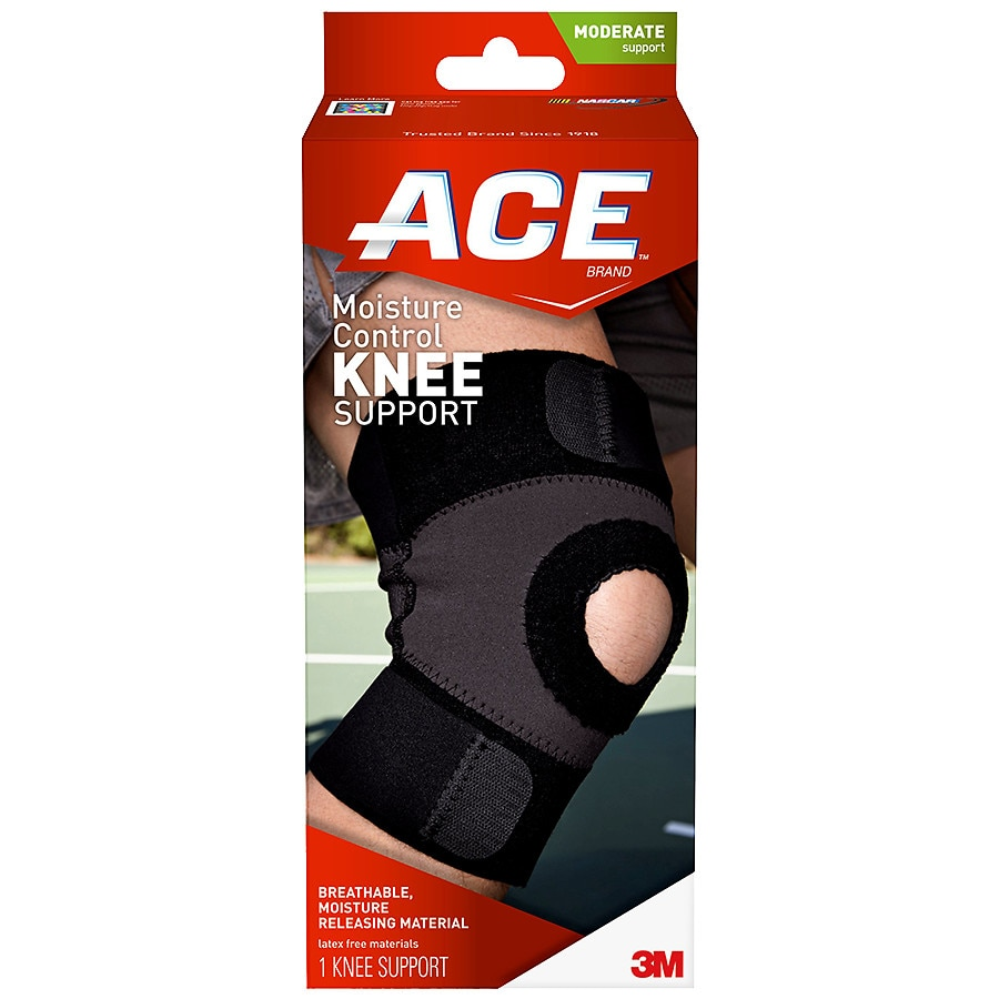fac3656daf Ace Moisture Control Knee Support Medium Black | Walgreens