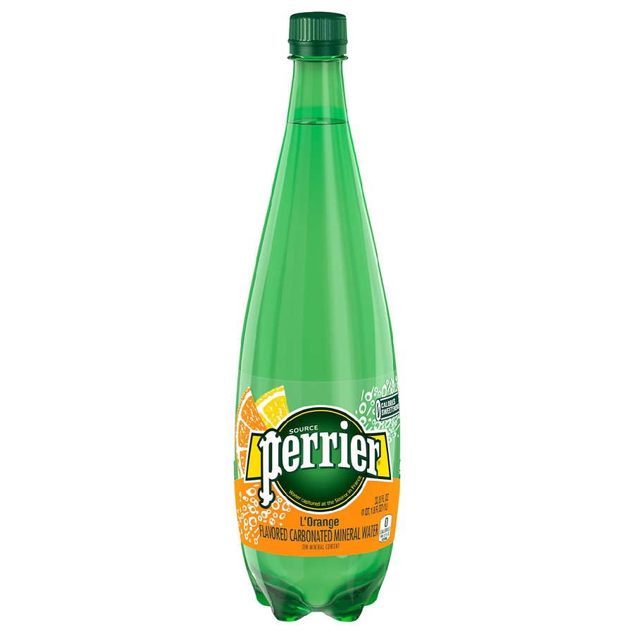 Perrier Sparkling Natural Mineral Water L Orange33 8 Oz