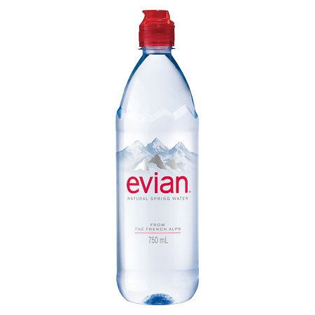 Evian Water With Sports Cap - 750.0 mL