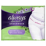 Always Discreet Incontinence Underwear Large