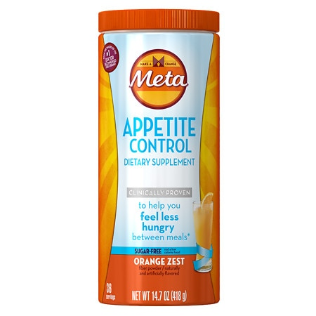 Image of Meta Appetite Control Dietary Supplement, Sugar-Free Orange - 14.7 oz.