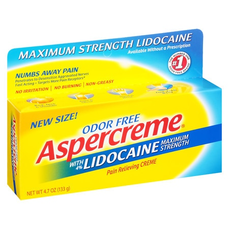 Aspercreme Maximum Strength Lidocaine Pain Relieving Creme - 2.7 oz.