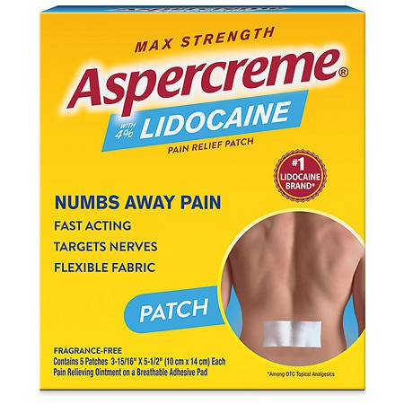 Aspercreme Lidocaine Patch Odor Free - 5 ea