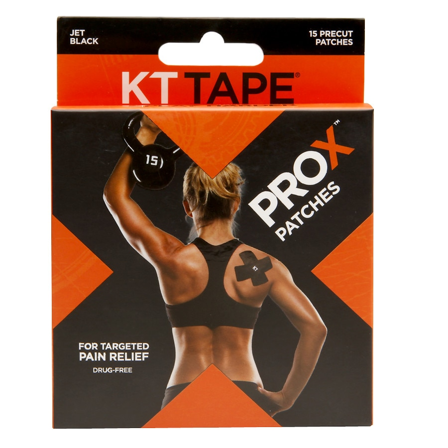 Kt Tape Pro X Patches Black Walgreens