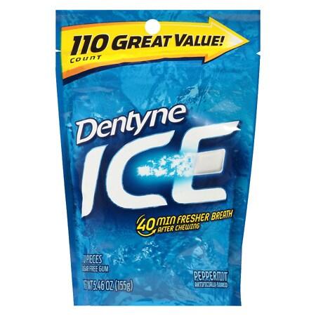 Dentyne Ice Gum Pouch Peppermint - 110 ea