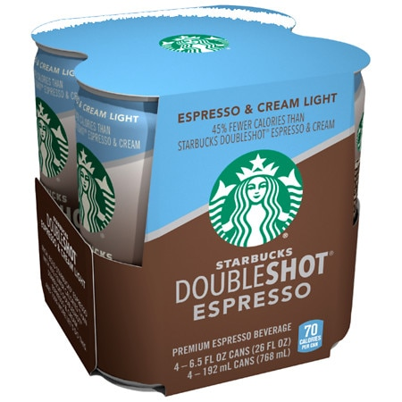 Starbucks Doubleshot Light, Espresso & Cream 6.5 oz x 12 Cans