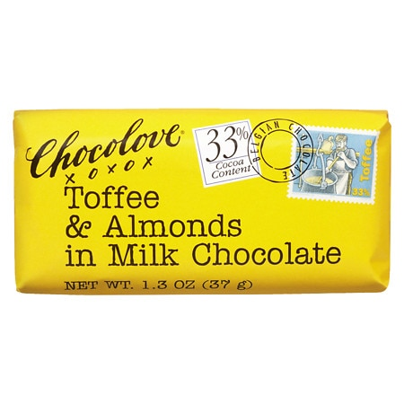 Chocolove Milk Chocolate Bar Toffee/Almond - 1.3 oz.