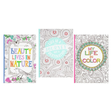 C.R. Gibson Coloring Bookbound Journal Assortment - 1 ea