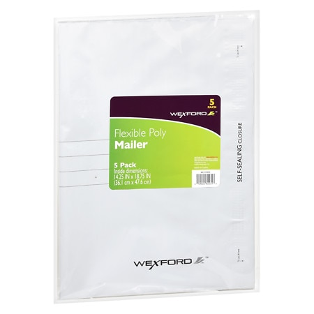 Wexford Flexible Mailers 14.25 Inches X 18.75 Inches - 5 ea