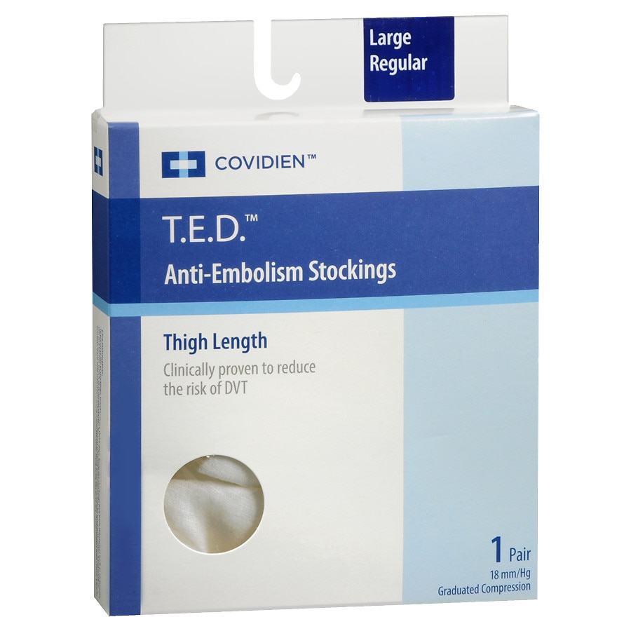 fa7987d657 T.E.D. Anti-Embolism Stockings Thigh High White