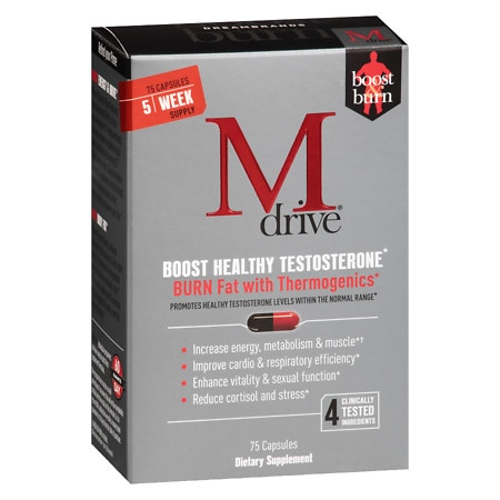 Mdrive Boost & Burn Dietary Supplement - 75 ea