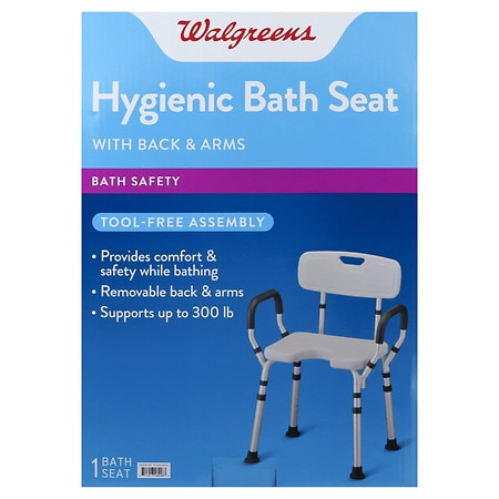 Walgreens Bath Seat With Arms & Back - 1 ea
