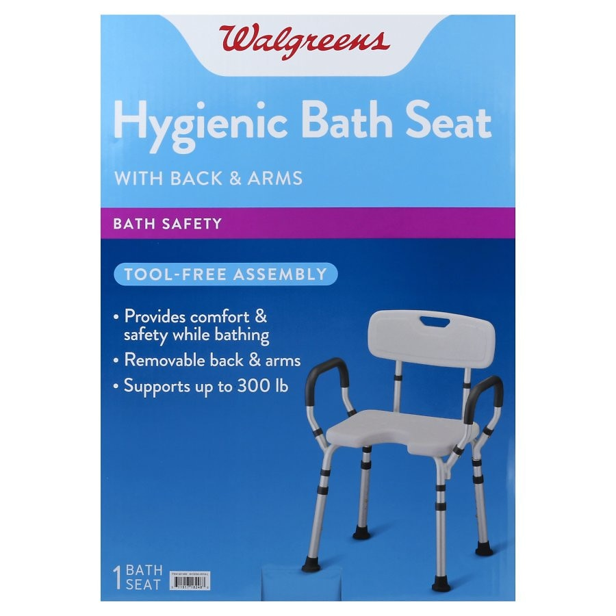 Walgreens Bath Seat With Arms & Back | Walgreens