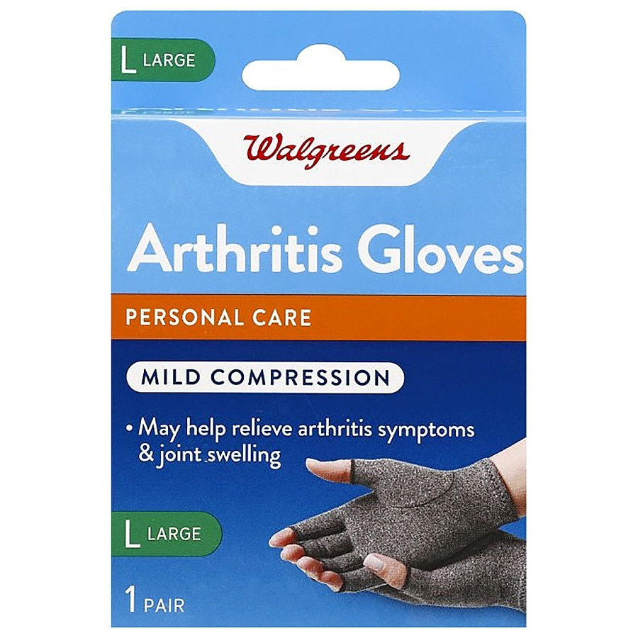 Walgreens Arthritis Gloves Gray, Gray