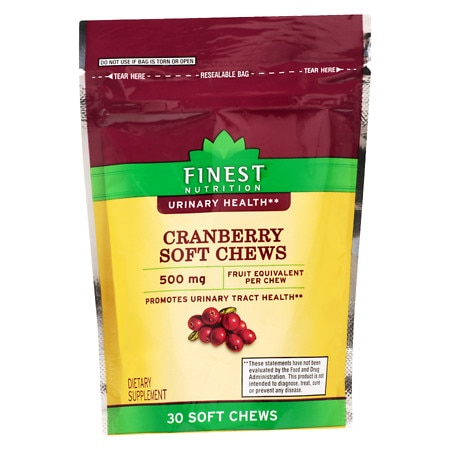 Finest Nutrition Cranberry 500 mg Soft Chews - 30 ea
