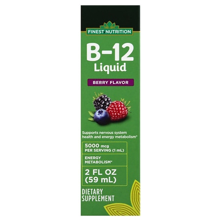 Finest Nutrition Vitamin B-12 5000 mcg Berry - 2 oz.