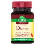 Finest Nutrition Vitamin D 5000 IU Tablets Strawberry