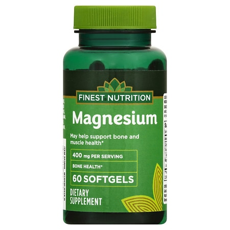 Finest Nutrition Magnesium 400 mg Softgels - 60 ea