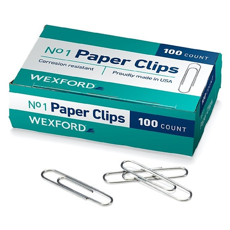 Wexford Paper Clips - 100 ea