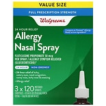 Walgreens Fluticasone Propionate 50 mcg, 24 Hour Relief Allergy Nasal Spray 3 X 120 Metered Spray