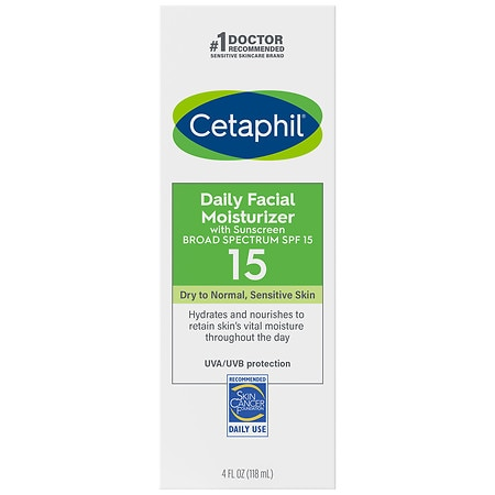 Cetaphil Daily Facial Moisturizer Lotion SPF 15 Fragrance Free