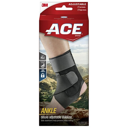 Ace Ankle Brace With Stabilizer Adjustable - 1 ea