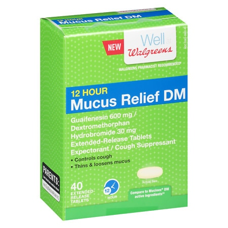 Walgreens Mucus DM 600 mg Tablets - 40 ea