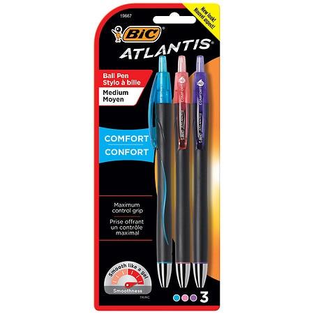 BIC Atlantis Comfort Fashion Pens - 3 ea