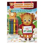 DANIEL TIGER Coloring Book With Crayons