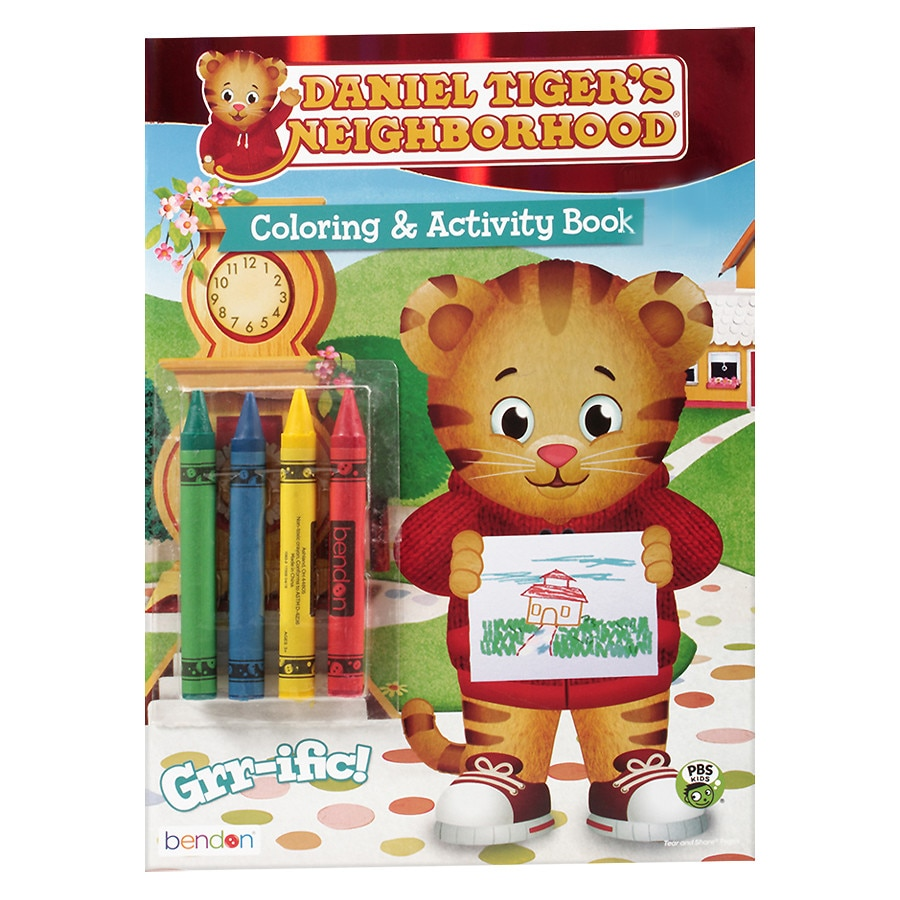 DANIEL TIGER Coloring Book With Crayons | Walgreens