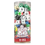 Cardinal Assorted Game Dice In Clear Tube