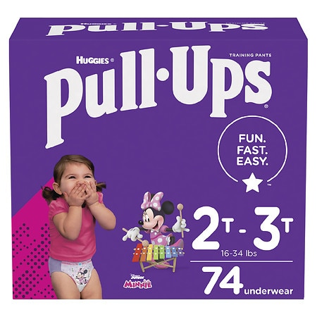 Huggies Pull-Ups Learning Designs Training Pants for Girls 2T - 3T - 74 ea