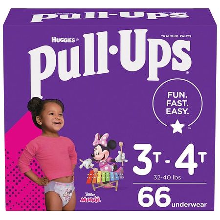 Huggies Pull-Ups Learning Designs Training Pants for Girls 3T - 4T - 66 ea