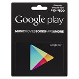 Google Play $10-$500 Gift Card