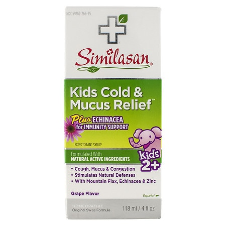 Similasan Kids Cold & Mucus Relief Plus Echinacea Grape - 4 fl oz