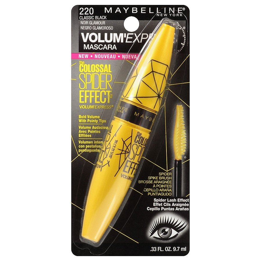 5629ebd466e Maybelline Volum' Express The Colossal Spider Effect Washable Mascara,  Classic Black0.33 oz