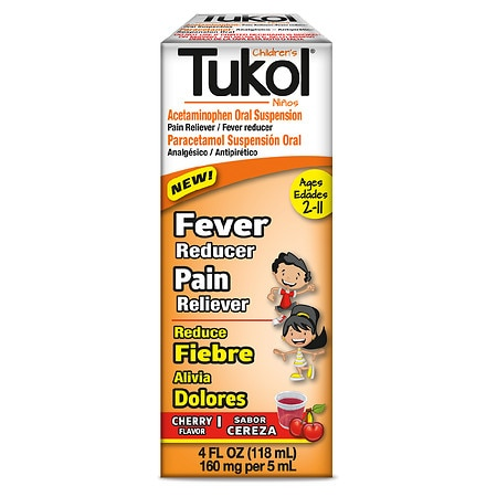 Tukol Children's Cold & Fever Relief Liquid Cherry - 4 oz.
