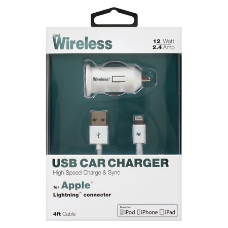 Just Wireless USB Car Charger Apple Lightning 03090 - 1 ea