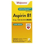 Walgreens Aspirin Low Dose 81 mg Enteric Coated Tablets