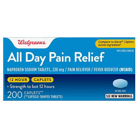 Walgreens All Day Pain Relief Caplets - 100 ea