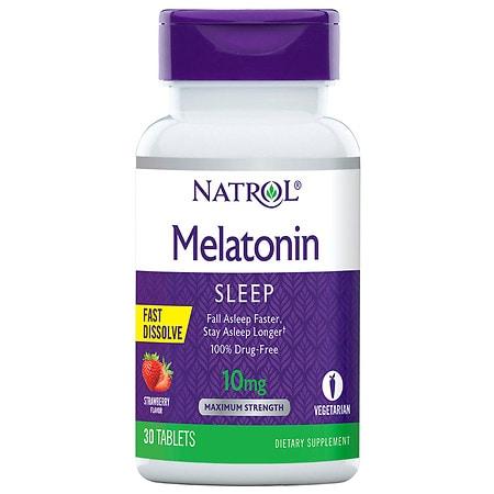 Natrol Melatonin 10 mg Fast-Dissolve Strawberry - 30 ea