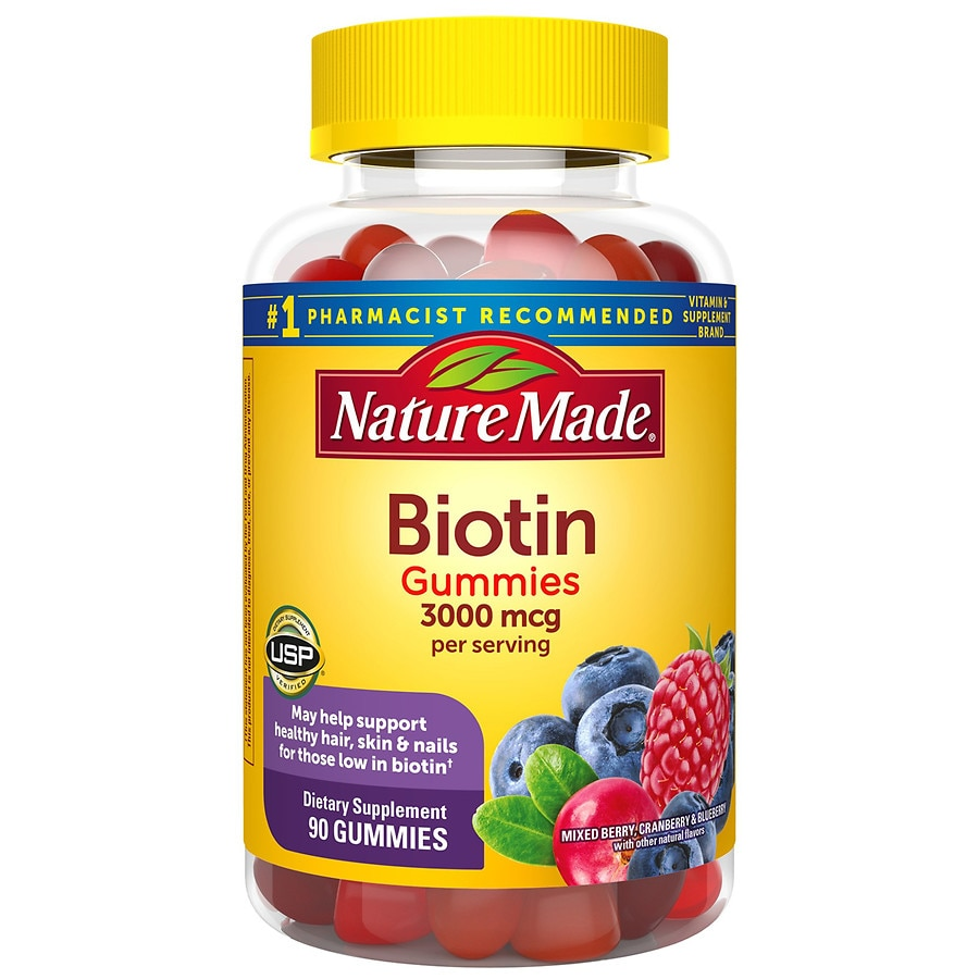 Nature Made Biotin Gummies 3000 Mcg