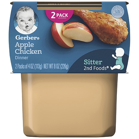 Gerber 2nd Foods Puree Apple Chicken - 4 oz. x 2 pack