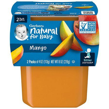 Gerber 2nd Foods Puree Mango - 4 oz. x 2 pack